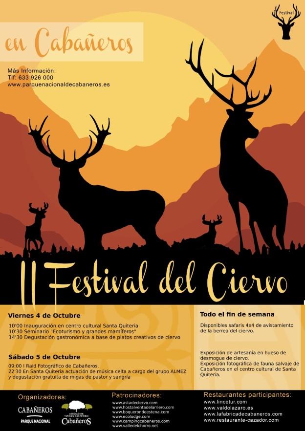 Cartel II Festival del Ciervo de Cabañeros
